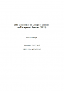 2015 11 DCIS 2015 Conference on Design of Circuits and Integrated Systems